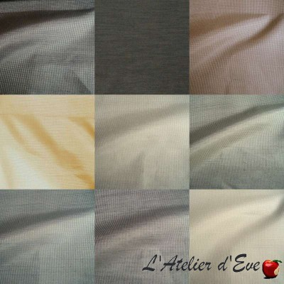 Black Sun (15 colours) grommet curtain obscuring blackout Made in France Thévenon the curtain