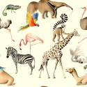 """All at the zoo"" discount 30% roll fabric child Thévenon room/half room"