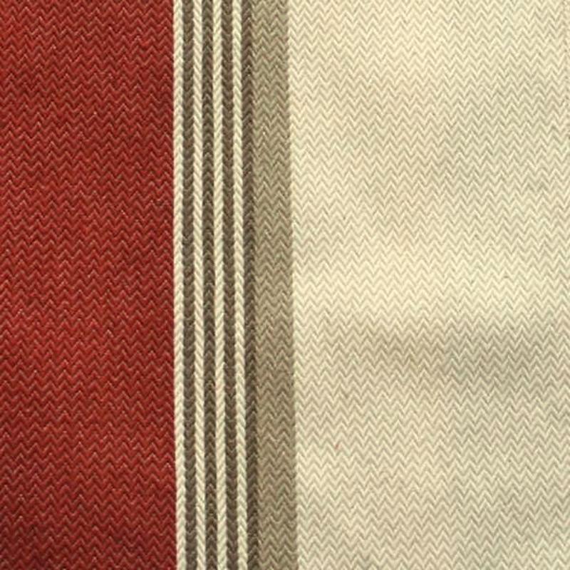 Amario - Rideau à oeillets prêt à poser jacquard rayé rouge