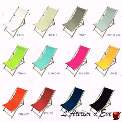 Canvas transat custom (13 colors) high L.43cm United range