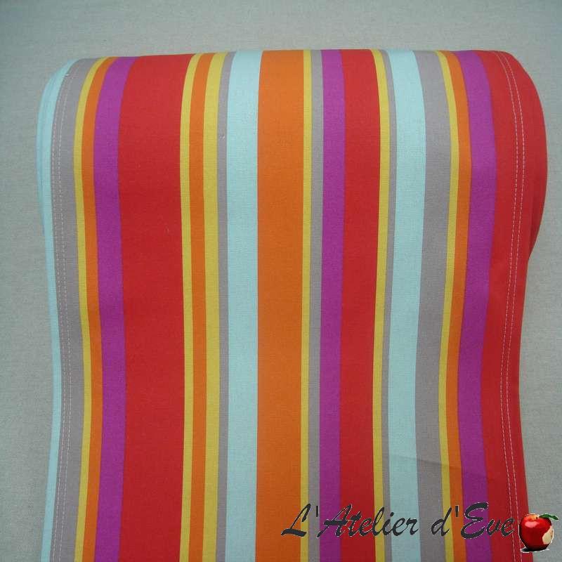 Canvas transat (4 colors) cotton canvas L.43cm striped top of range