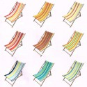 Canvas transat custom striped (8 colours) cotton canvas L.43cm top of the range