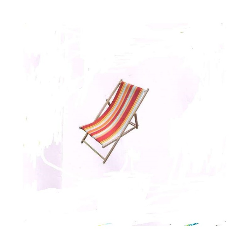 Canvas transat custom striped (8 colours) cotton canvas L.43cm top of the range