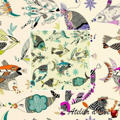 Bali & Fidji (3 coloris) Rideau à oeillets Made in France thème mer Thevenon Le rideau