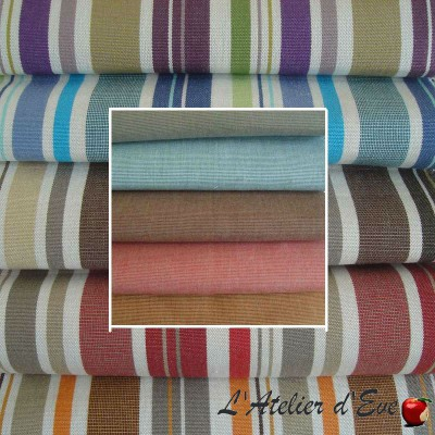 Soleil 10 coloris Tissu extérieur et intérieur, toile imperméable, bâche déperlante