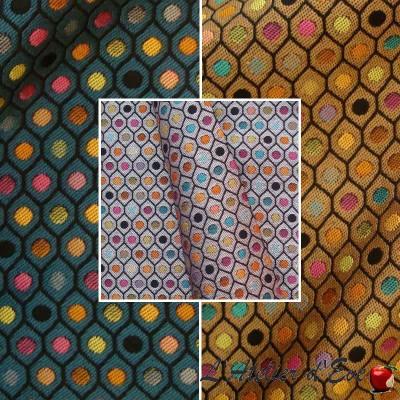 Haussmann (3 coloris) Tissu ameublement jacquard à pois Thevenon