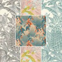 """Tropical Klang"" Rideau Made in France percale Thevenon"