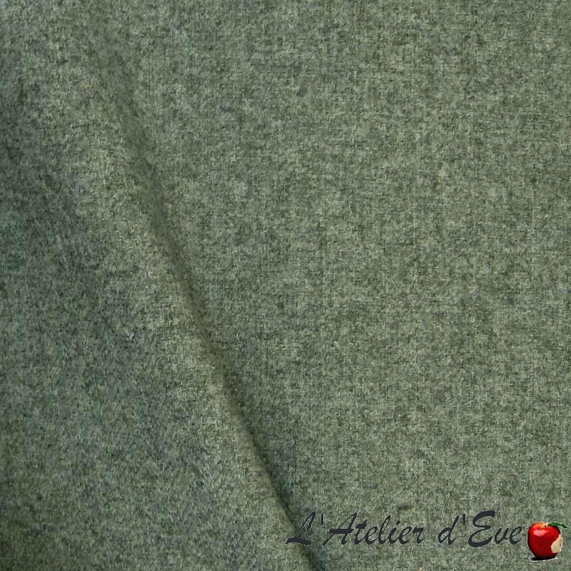 Rive gauche gris orageux, achat en gros tissu jacquard uni Thevenon