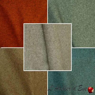 Rive gauche (10 coloris) Rouleau REMISE 30% tissu ameublement et siège jacquard Thevenon Pièce/demi-pièce
