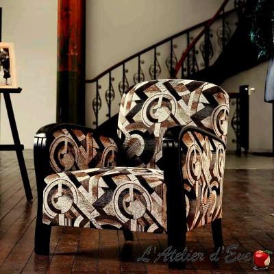 Sonia (7 coloris) Tissu velours jacquard ameublement et siège Casal