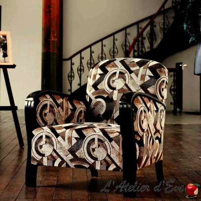 Sonia coloris blanc/beige, tissu jacquard ameublement et siège Casal