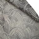 Sirius Rideau à oeillets pret à poser jacquard gris le rideau
