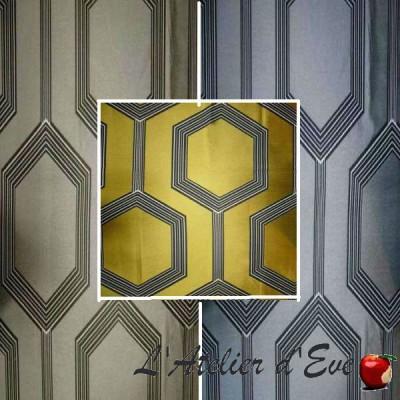 Hexagone 3 coloris Tissu ameublement jacquard grande largeur Thevenon