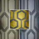 Hexagon curtain has grommets jacquard Made in France the curtain