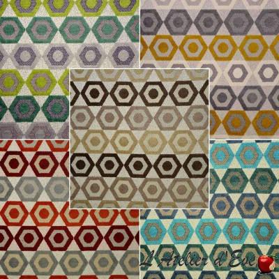Manaus (9 coloris) Tissu aquaclean ameublement et siège jacquard velours Casal