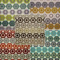 Manaus (9 colors) fabric upholstery and seat jacquard velvet Casal aquaclean
