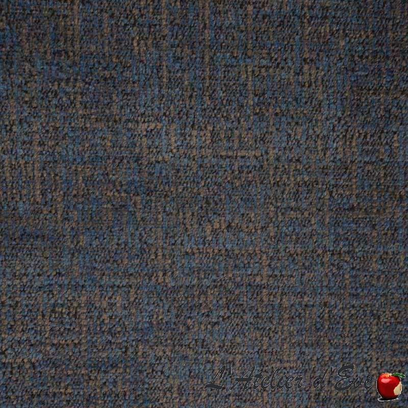 Sobral bleuet, tissu lavable aquaclean velours faux-uni Casal