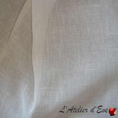 Etamine blanc cassé Voilage à oeillets Made in France Thevenon Le rideau