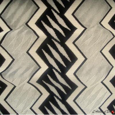 Generique argent/ebene, tissu jacquard velours ameublement et tapissier Casal
