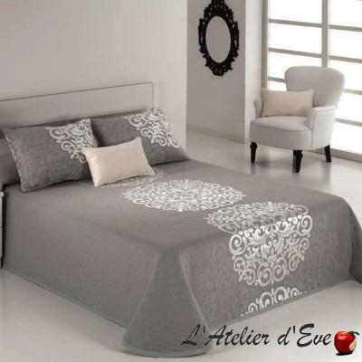 Presley (3 sizes) Gray jacquard bedspread C.08 Reig Marti