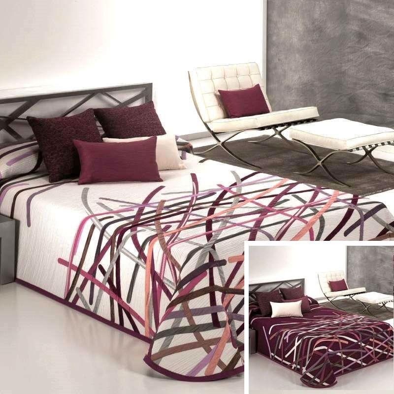 couvre lit graphique moderne bastian grenat reig marti. Black Bedroom Furniture Sets. Home Design Ideas