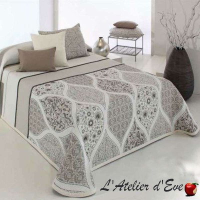 Cecyl (4 sizes) Beige jacquard bedspread C.01 Reig Marti