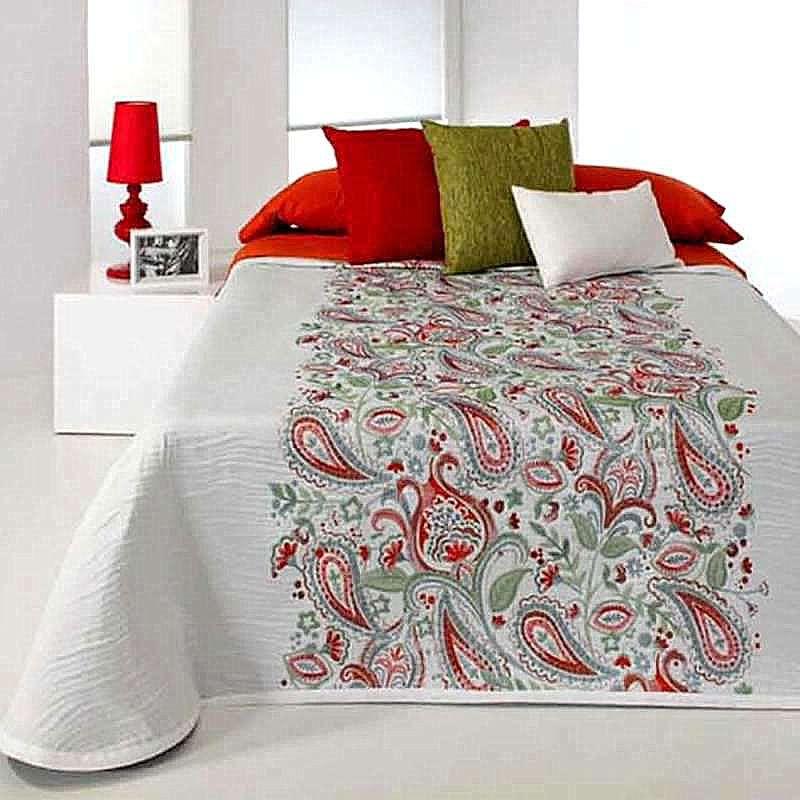 couvre lit jacquard motif cachemire posey de reig marti. Black Bedroom Furniture Sets. Home Design Ideas