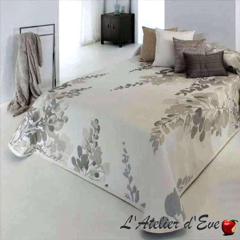 Lilac naturel: couvre-lit jacquard fleurs C.01 Reig Marti