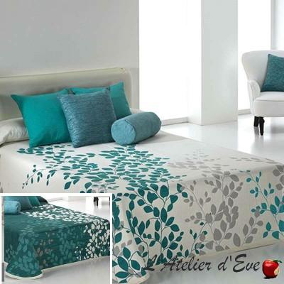 Geisha bedspread floral reversible Reig Marti