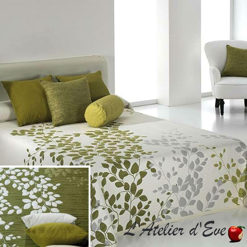 Geisha vert C.04 Couvre-lit jacquard réversible motif floral C.04 Reig Marti