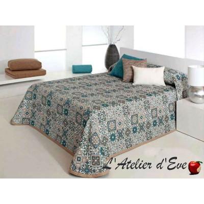 Fulton bleu, couvre-lit patchwork C.03 Reig Marti