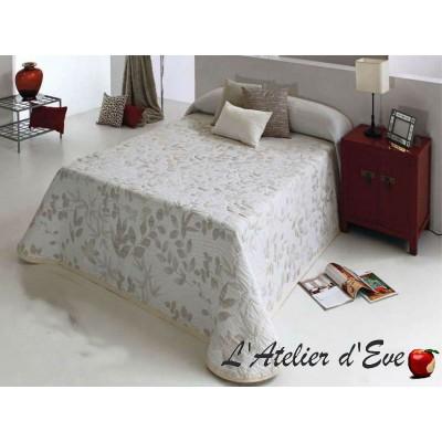 Cler (4 sizes) Orange Flowery Jacquard Bedspread C.02 Reig Marti