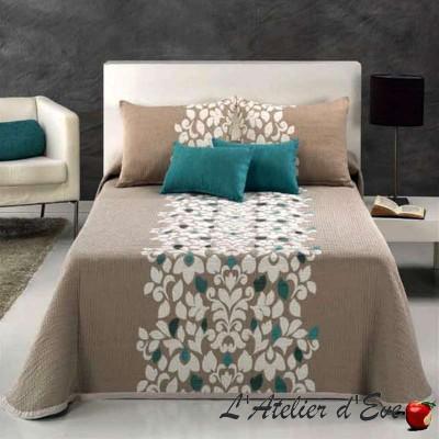 Fawn (3 sizes) Flower jacquard bedspread C.09 Reig Marti