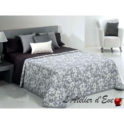 """Achat couvre-lit fleuri """"Cumel"""" coloris gris C.08 Reig Marti"""
