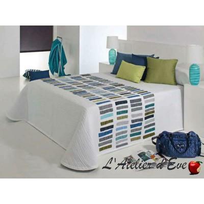 Cler (4 sizes) Floral jacquard bedspread blue C.03 Reig Marti