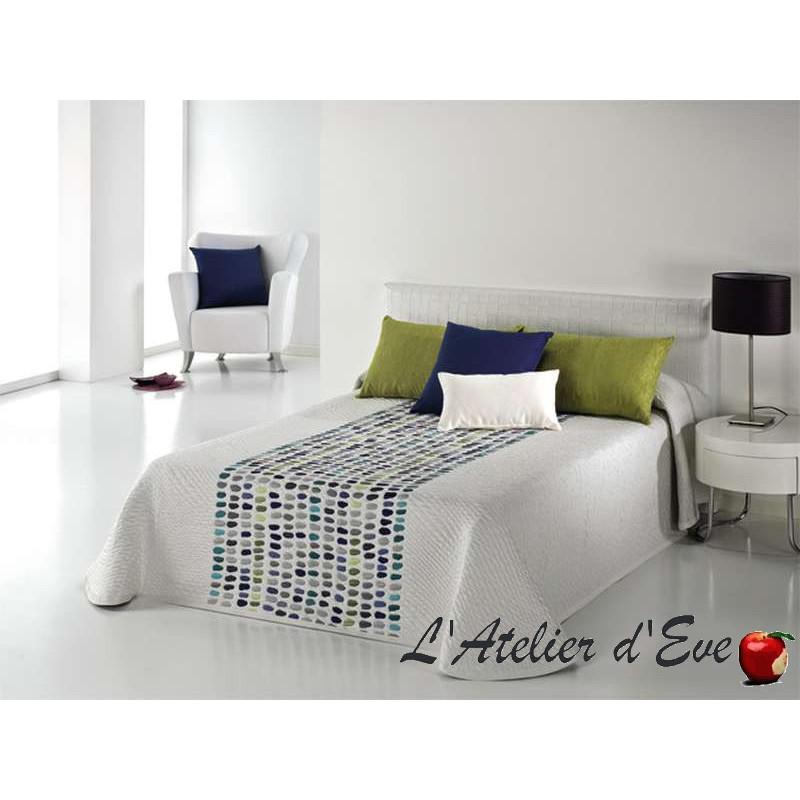 Boutis, couvre-lit jacquard à pois multicolores Grains C.03 Reig Marti