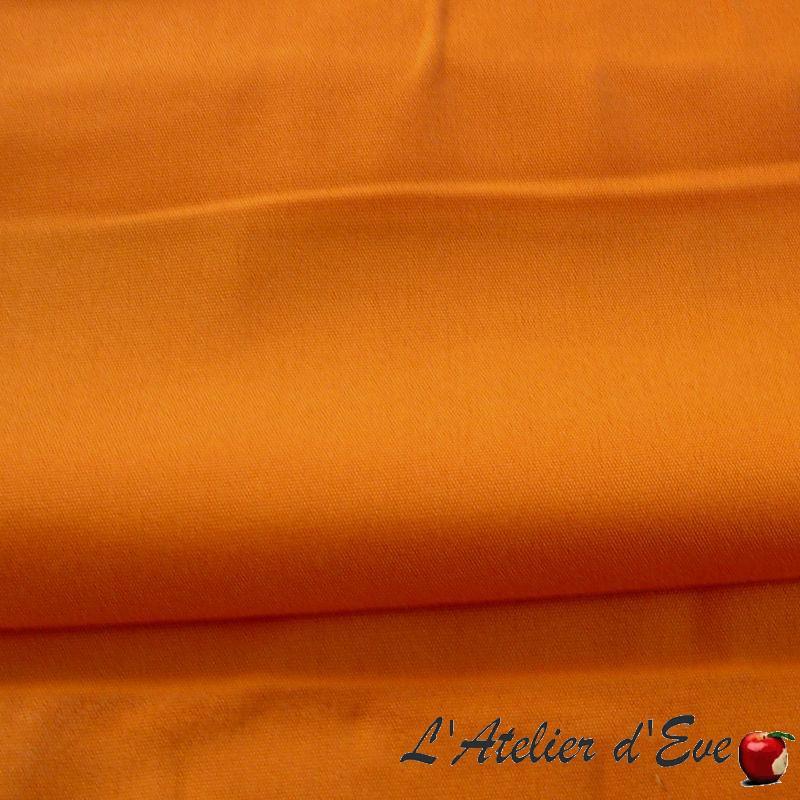 Toile extérieure, bâche déperlante traitée téflon unie orange Evedeco
