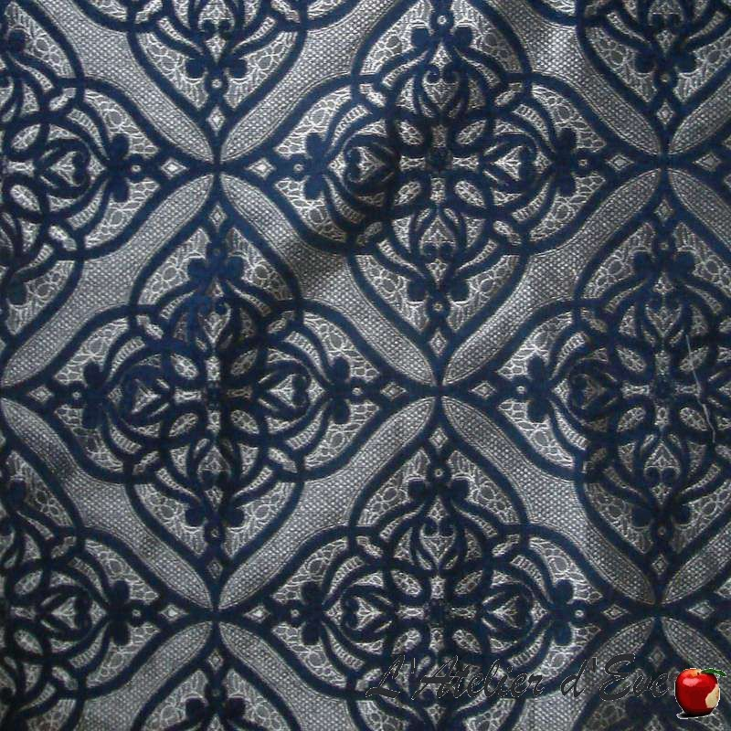 Rideau Made in France Ibiza, rideau bleu sur mesure Thevenon