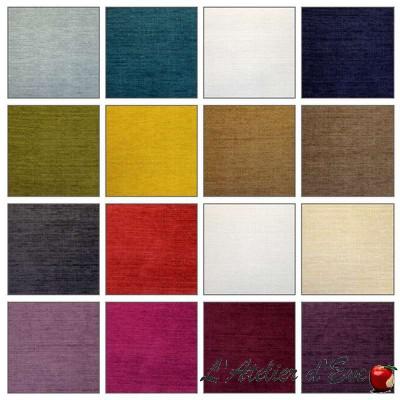 Argos (36 coloris) Tissu ameublement aquaclean uni pour sièges Casal