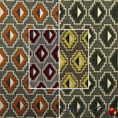 Place des vosges (4 colors) Jacquard fabric velvet upholstery and seat Thevenon