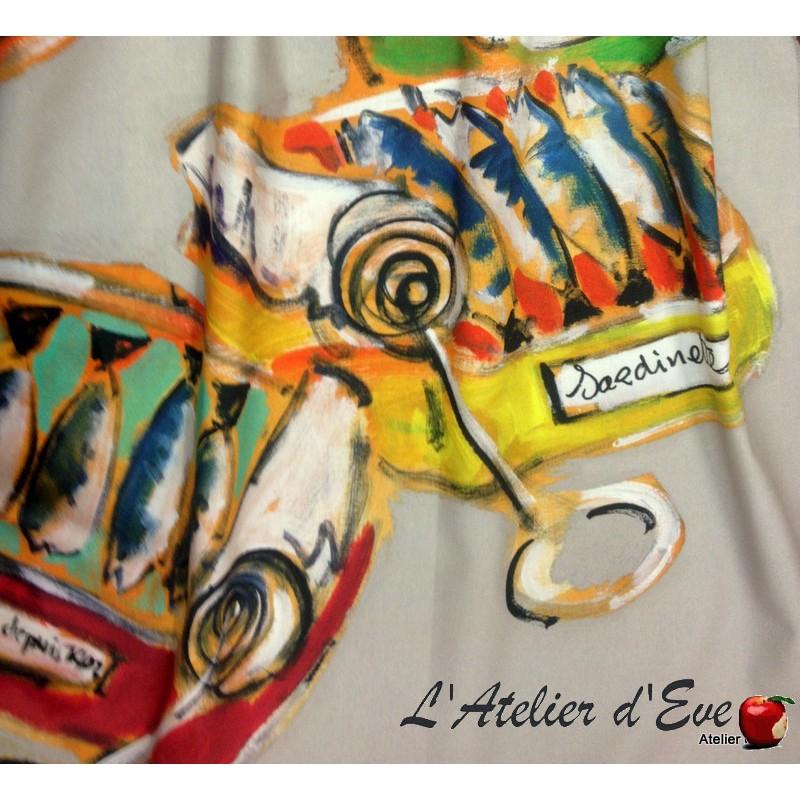 Sardines Canvas upholstery cotton Thevenon