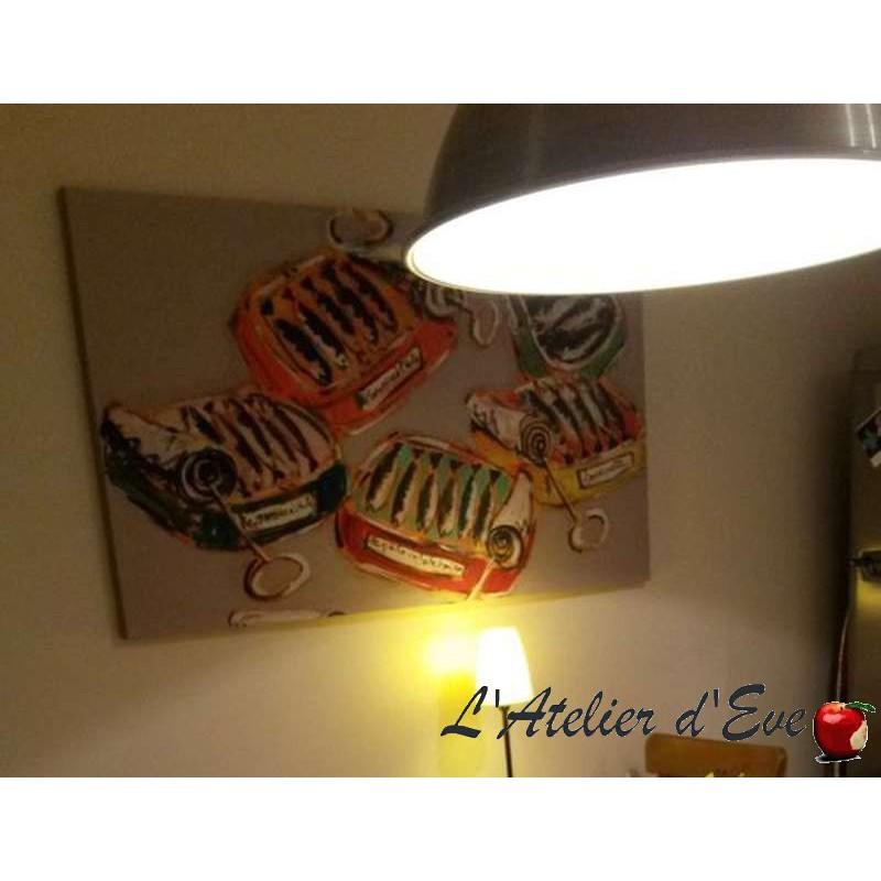 Les Bouees Tableau 74x130cm fond creme Thevenon