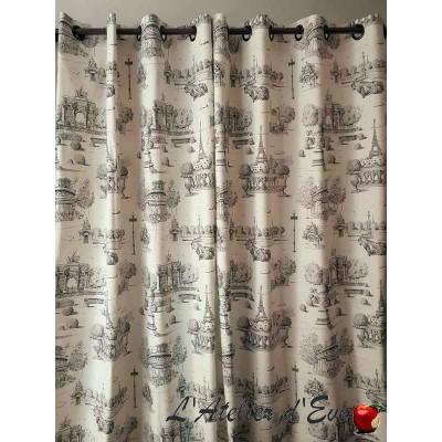 Place Vendôme curtain grommet ready to ask jouy Thévenon the curtain canvas