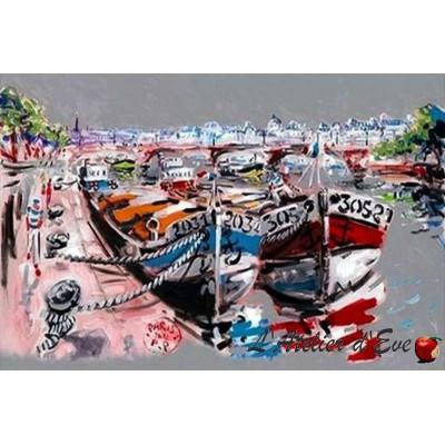 """""""Nouvelle vague"""" Coupon 120x68cm Cotton canvas upholstery Thevenon"""