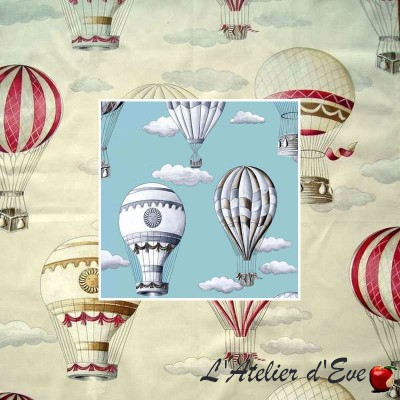 """In the air"" curtain percale Made in France Thévenon"