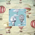 In the air (2 colors) Curtain with eyelets Made in France cotton Thevenon The curtain