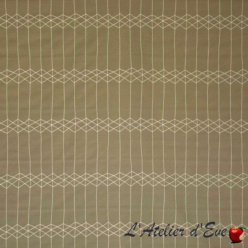 Casting beige Tissu ameublement et siège motif géométrique Casal