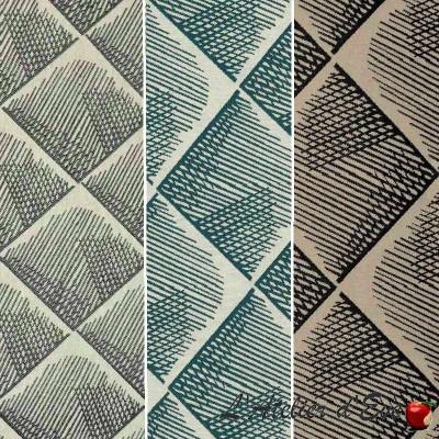Quadratis (3 coloris) Tissu ameublement jacquard géométrique Thevenon
