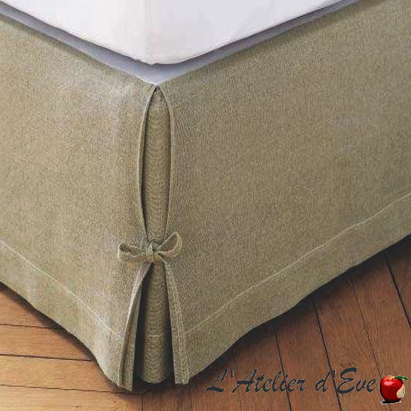purchase cache bed base in linen 160x200cm thevenon. Black Bedroom Furniture Sets. Home Design Ideas