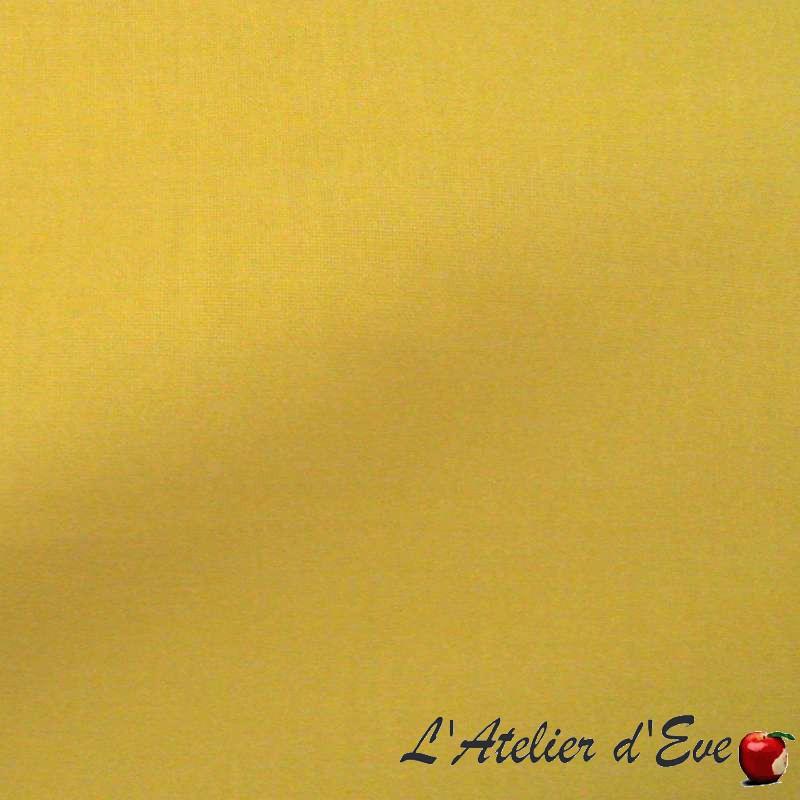 Toile à drap coton moutarde grande largeur